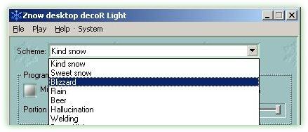Znow Desktop Decor 1.1.1 - Βάλτε χιόνια στην επιφάνεια εργασία σας!  ZnowSchemaChoose